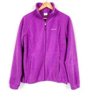 Columbia Full Zip Fleece Jacket Toggle Waist